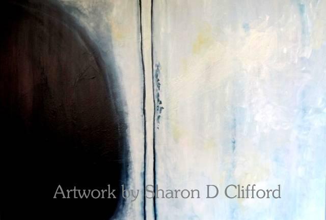 'Indigo Landscape' 115x76cm (acrylic on canvas)  $680